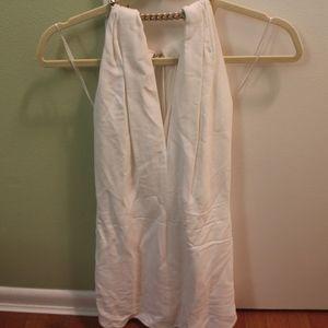 Emilio Pucci White Chain Halterneck Dress Size 34